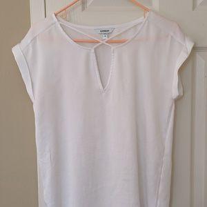 Express White silk like shirt